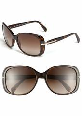 Prada 57mm Rectangular Sunglasses