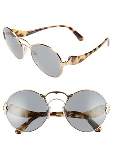 Prada 57mm Round Sunglasses