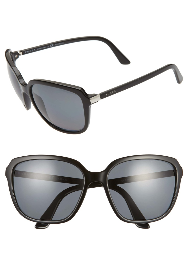 Prada 58mm Polarized Sunglasses