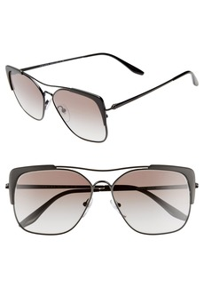 Prada 58mm Square Sunglasses