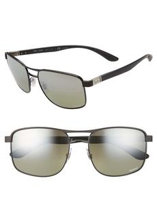 Prada 59mm Geometric Sunglasses