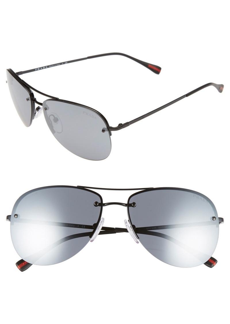 Prada 59mm Metal Aviator Sunglasses