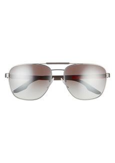 Prada 60mm Mirrored Navigator Sunglasses