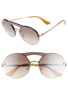 Prada 60mm Rimless Shield Sunglasses