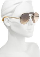 Prada 60mm Rimless Shield Sunglasses