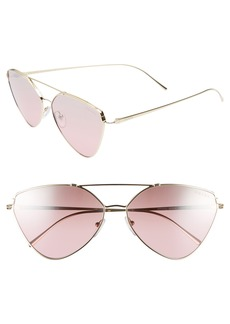 Prada 62mm Gradient Aviator Sunglasses