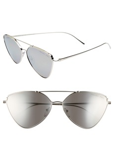 Prada 62mm Polarized Oversize Aviator Sunglasses