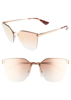 Prada 63mm Mirrored Gradient Oversize Sunglasses