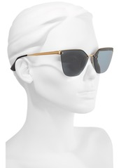 Prada 63mm Oversize Rimless Sunglasses