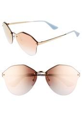 Prada 66mm Gradient Rimless Sunglasses