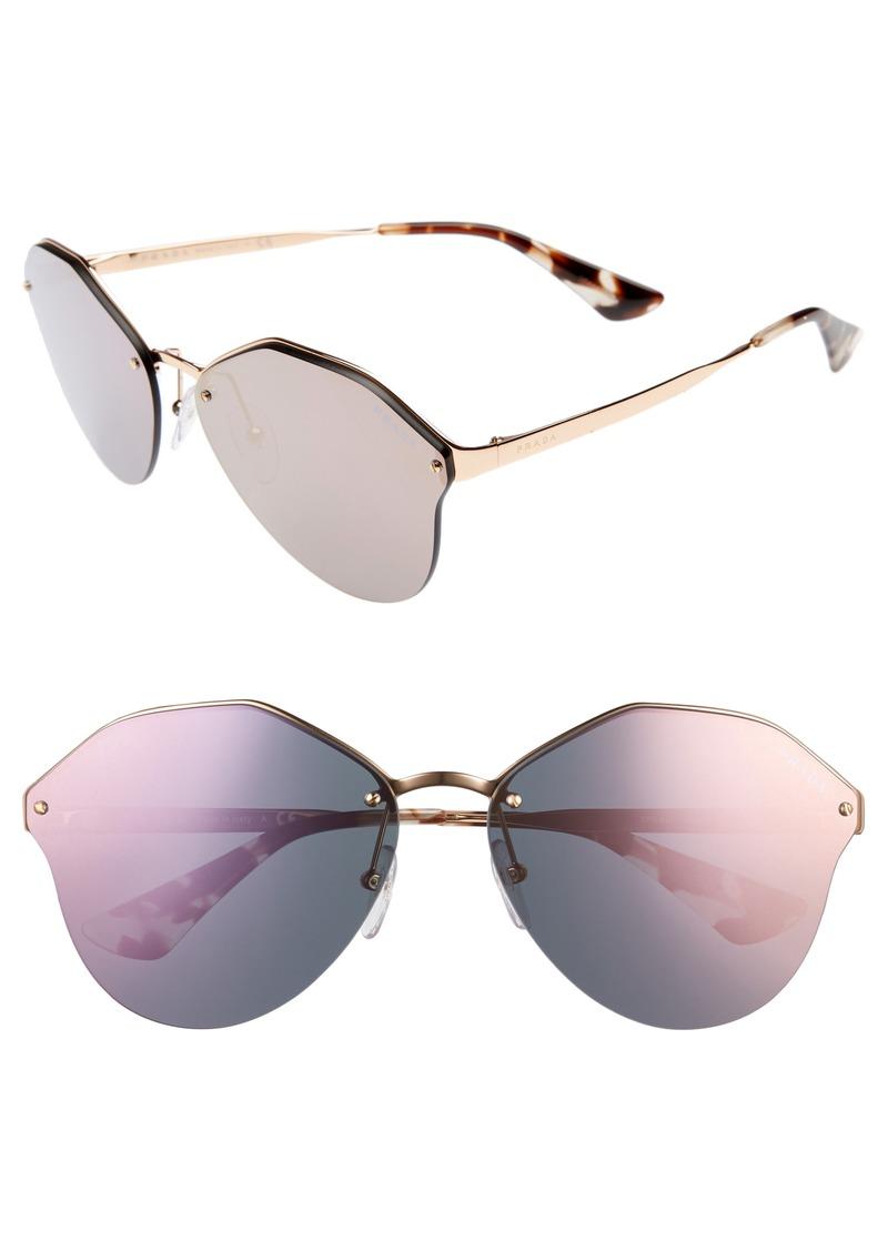 bcaa16187 SALE! Prada Prada 66mm Oversize Rimless Sunglasses