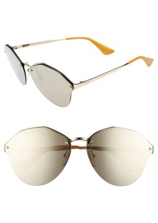 Prada 66mm Oversize Rimless Sunglasses