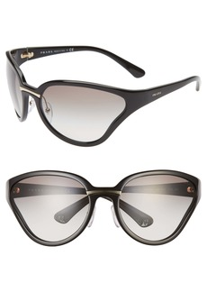 Prada 68mm Oversize Wrap Butterfly Sunglasses