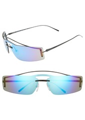 Prada 73mm Mirrored Wrap Sunglasses
