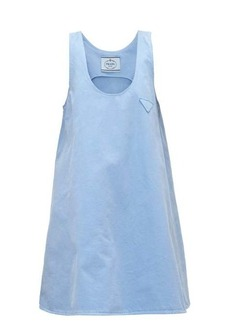 Prada A-line denim mini dress