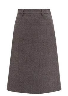 Prada A-line wool-blend tweed skirt