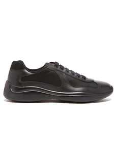 Prada America's Cup leather and mesh trainers