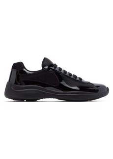 Prada America's Cup patent leather and mesh trainers
