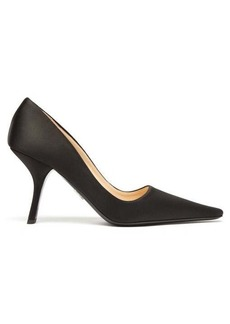 Prada Angular-heel satin pumps