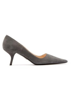Prada Angular-heel suede pumps