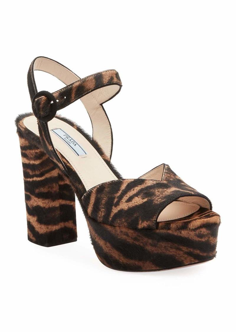 Prada Animalier Platform 105mm Sandals