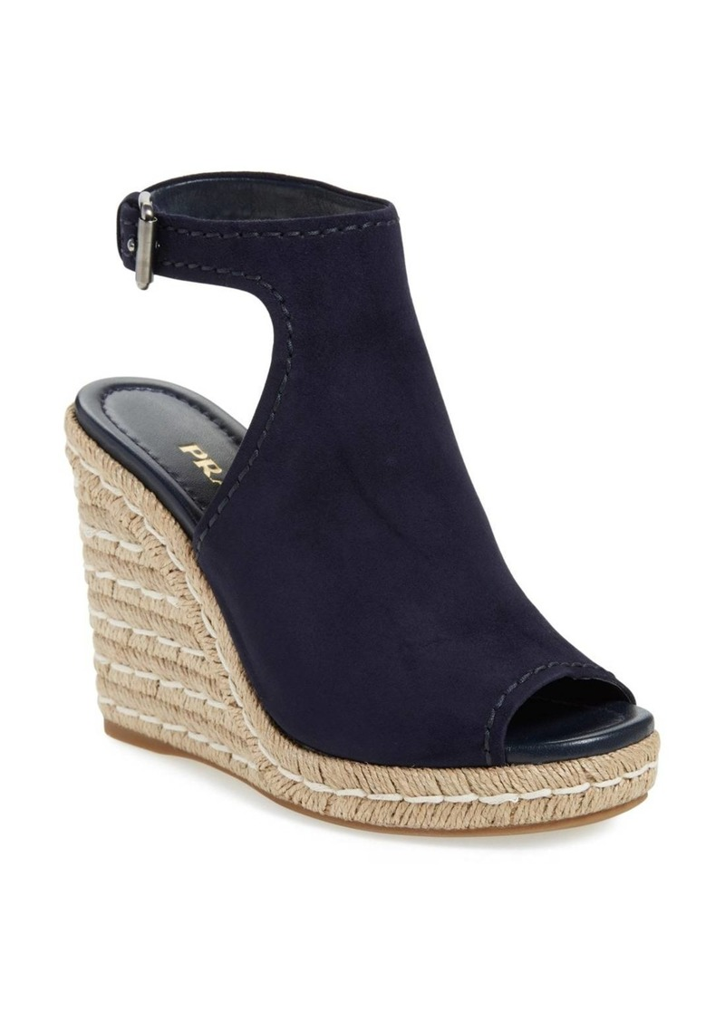 e8b8da09be22 On Sale today! Prada Prada Ankle Strap Espadrille Wedge Sandal (Women)