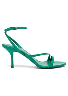 Prada Ankle-strap patent-leather heeled sandals