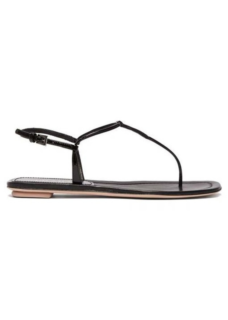 Prada Ankle-strap patent-leather sandals