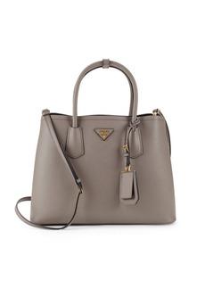 Prada Argilla Leather Tote Bag