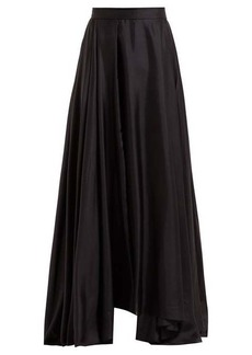 Prada Asymmetric-hem silk-habotai maxi skirt