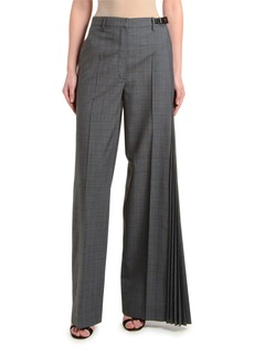 Prada Asymmetric Micro Galle Plaid Pants