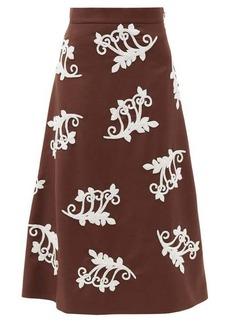 Prada Bead-embellished mohair-blend midi skirt