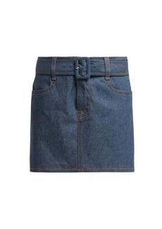 Prada Belted denim mini skirt