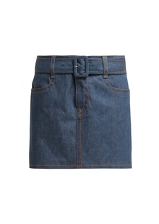 Prada Belted denim skirt