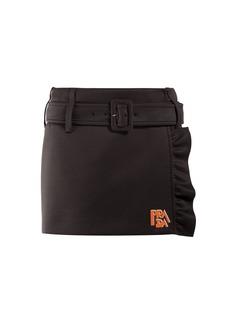 Prada Belted jersey mini skirt