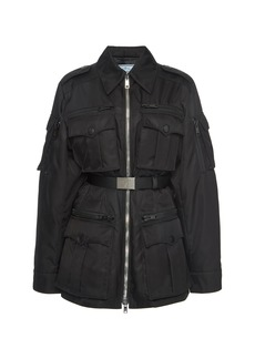 Prada Belted Shell Military Jacket