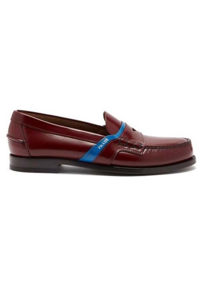 Prada Bi-colour leather loafers