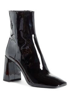 Prada Block Heel Patent Leather Bootie (Women)