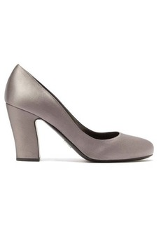 Prada Block-heel satin pumps