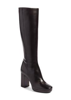 Prada Block Heel Tall Boot (Women)