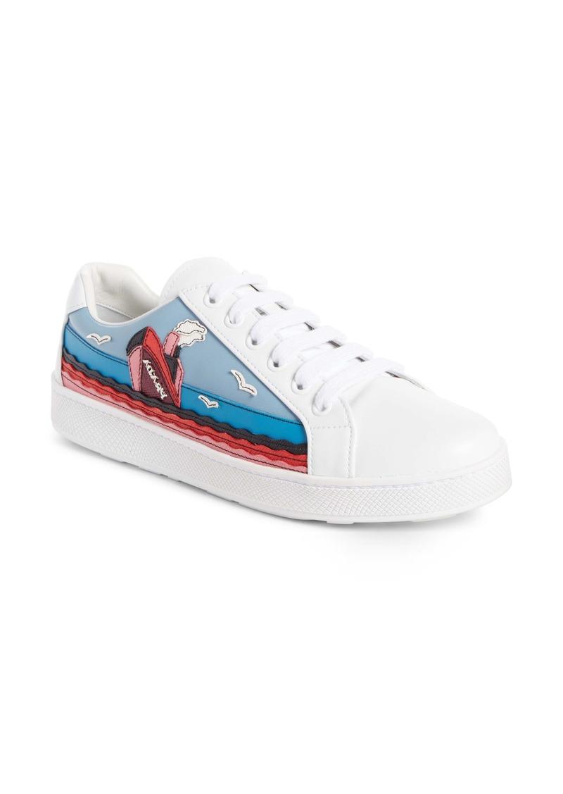 7be5d9059935 SALE! Prada Prada Boat Platform Lace-Up Sneaker (Women)