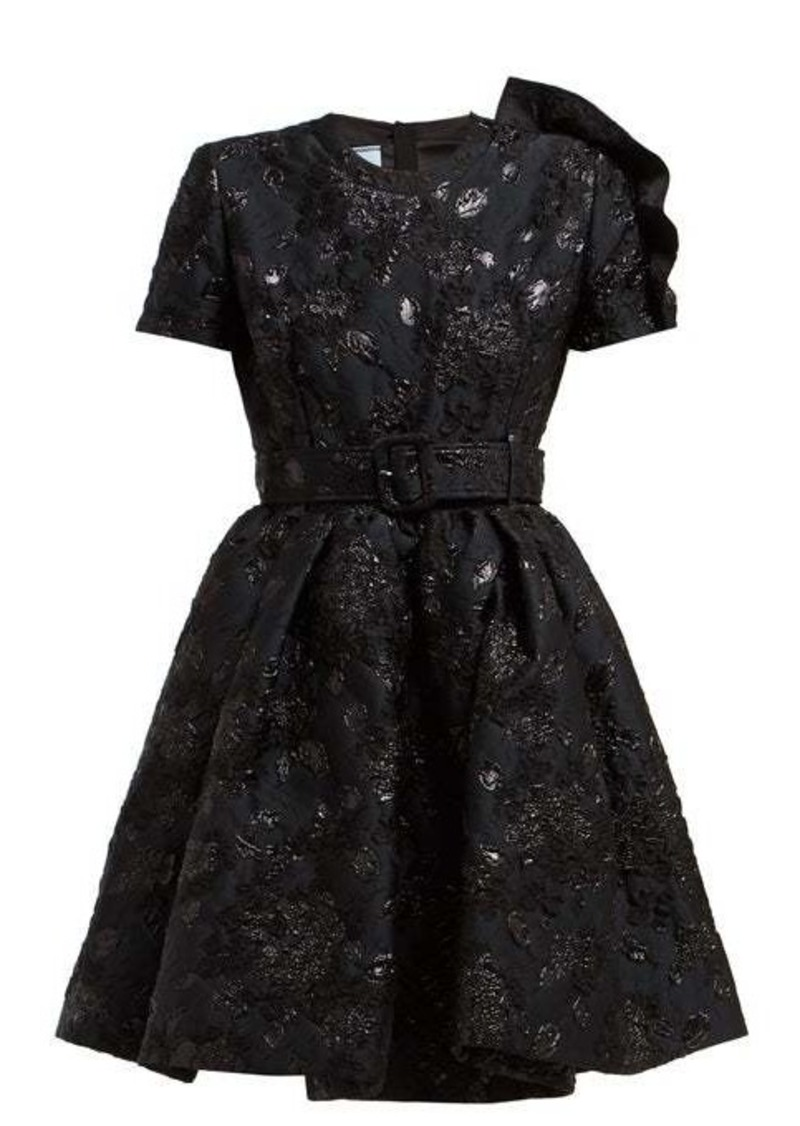 Prada Bouquet-brocade flared mini dress