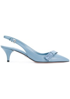 Prada Bow-detail slingback pumps - Blue