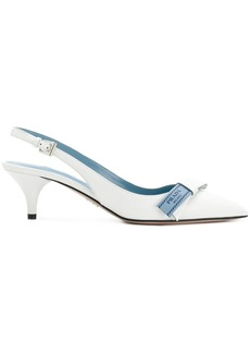 Prada bow-detail slingback pumps - White
