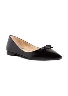 Prada Bow Logo Pointy Toe Flat (Women)