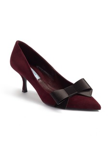 Prada Bow Pointy Toe Pump (Women)
