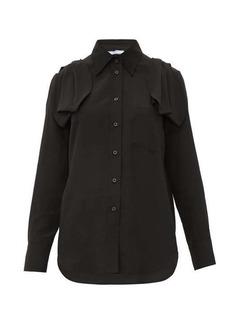 Prada Bow-shoulder silk crepe blouse