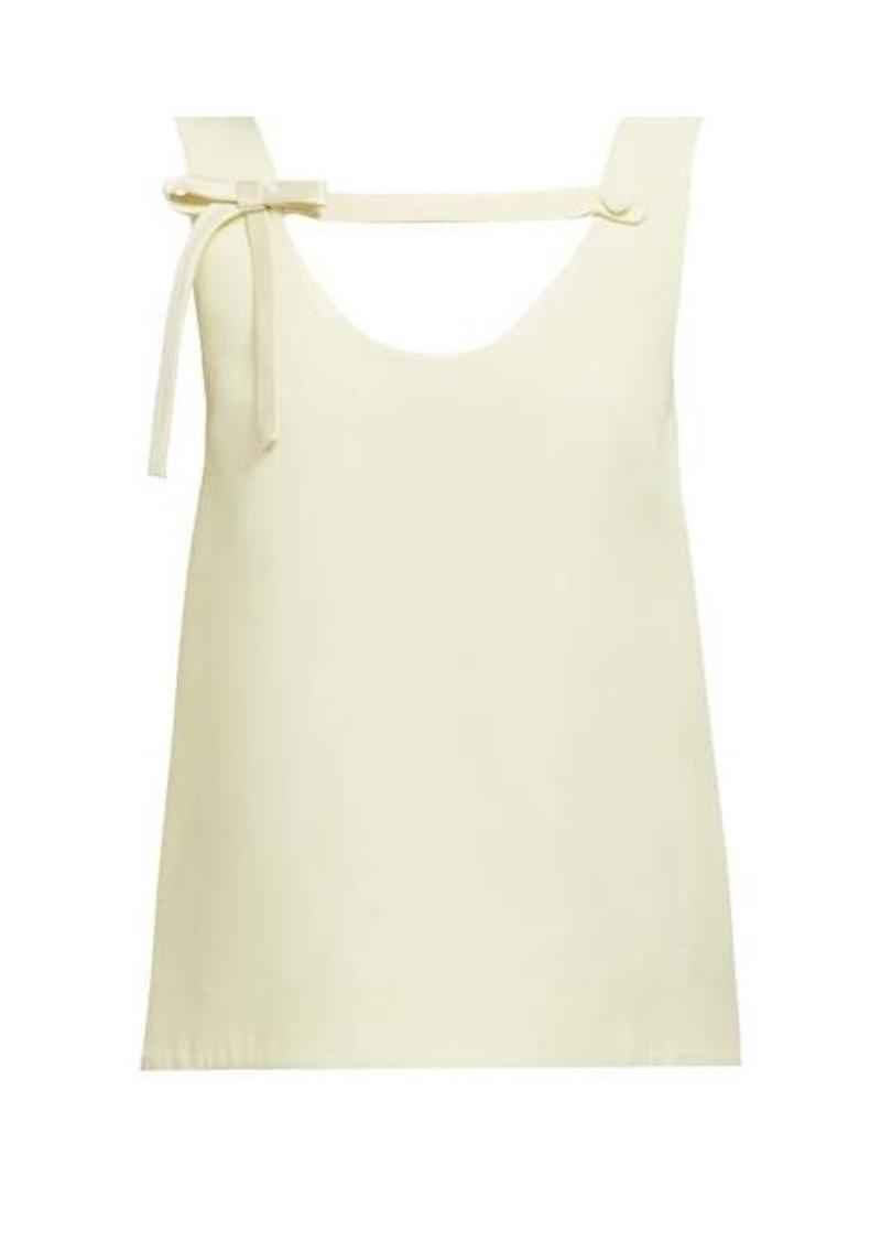 Prada Bow-strap crepe blouse