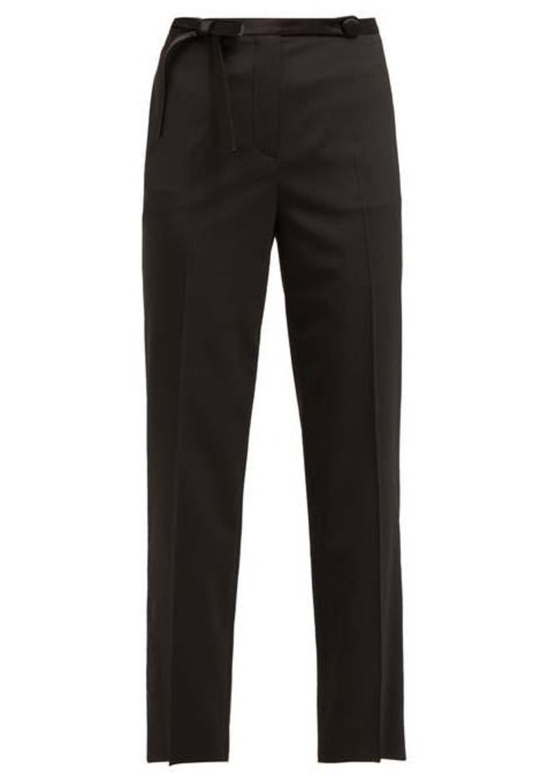 Prada Bow waist cropped trousers