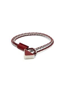 Prada Braided leather bracelet